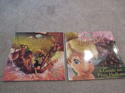 Lot of 2 Softcover Books, Disney, Tinkerbell, Pixie Hollow, Fairy Rescue