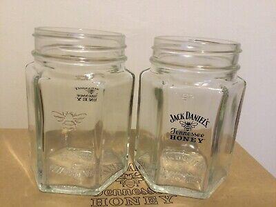 2 Brand new Jack Daniels Tennessee Honey mason jar style glasses