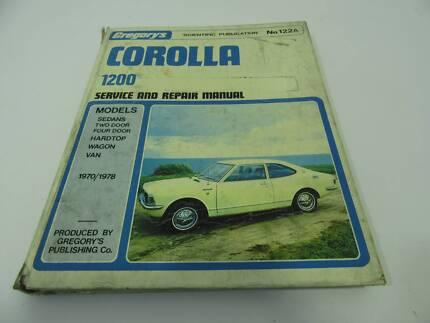TOYOTA COROLLA 1200 SERVICE REPAIR MANUAL KE20 1970 - 1978