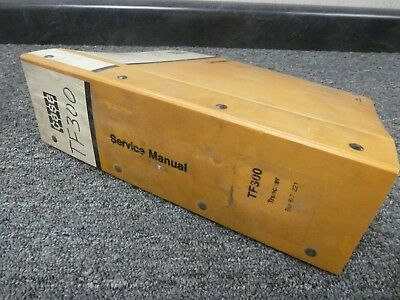Case Tf300 Crawler Mounted Chain Trencher Shop Service Repair Manual 8-71221