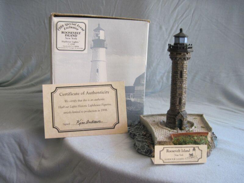 Harbour Lights Lighthouse - Roosevelt Island, NY, 1998 - in original box