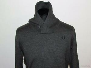 FRED-PERRY-maglia-shirt-maillot-sweater-jumper-wool-lana-originale-merino-L