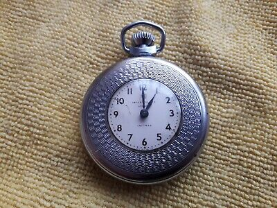 Lovely 1959 Ingersoll triumph Opera pocket watch Cleaned and Serviced Free post