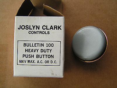 Joslyn Clark 1X4 Bulletin 100 Grey Push Button 600V Max NEW!!! Free Shipping