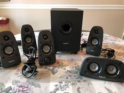 LOGITECH Z506 5.1 Surround Sound Speaker System TESTED S-00097A  Excellent Cond