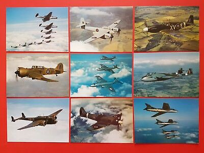 Set of 9 New Postcards RAF Museum Series of Outstanding Aircraft WW2 1950's #A7