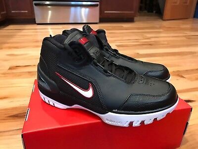 e6c4626ba99 NIKE AIR ZOOM GENERATION QS KING ROOK BLACK WHITE RED AJ4204-001 SIZE 8  NOBOXTOP