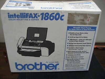 Brother Intellifax 1860c Multifunction Color Inkjet Fax Copierphone Sold As Is