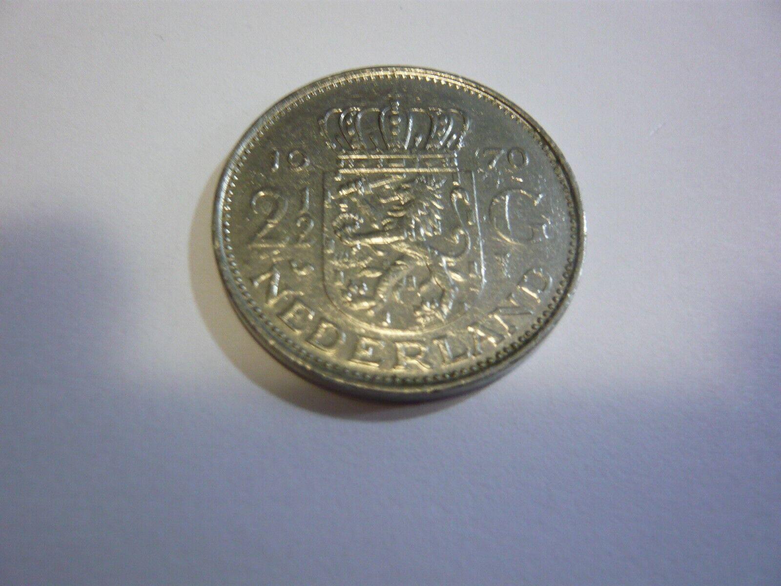 2 1/2 Gulden Netherlands coin Pays-Bas pièce  1970