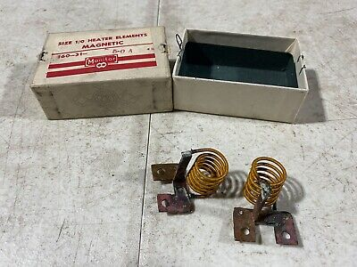 Lot Of Two Monitor Products Size 10 Heater Elements Magnetic 160-31-5.0a Nos