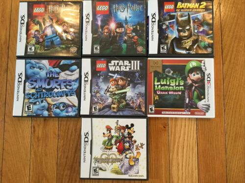 Lot Nintendo 3DS Games Lego Batman 2 Harry Potter Star Wars Luigi s Disney Smurf - $19.99