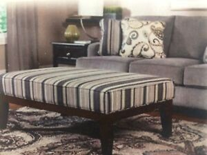Sofa and matching ottoman (slate grey/bluish in colour)