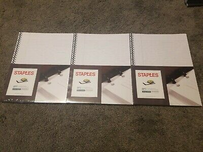 3 Staples Arc Customizable Notebook System 50 Sheets College-ruled Refill Paper