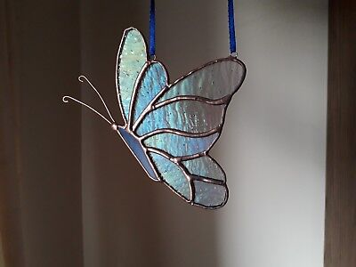 Stained Glass Butterfly Wall/Window Decoration Handmade Gift Tiffany Style - Butterfly Stained Glass