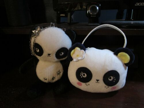 Gymboree panda head & chain Panda plush purse bag VHTF