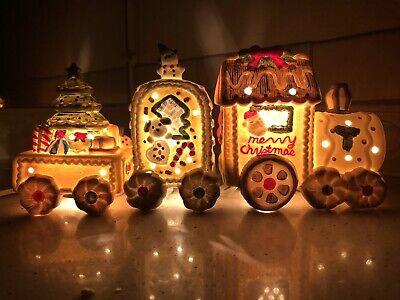 Gingerbread Light Up Train Detachable Set Night Light Christmas Train