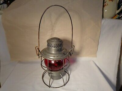 VINTAGE ADAM WESTLAKE COMPANY 3-36 UNION PACIFIC RED GLOBE RAILROAD LANTERN - NR - $149.95