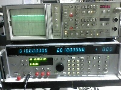 Gigatronics 7100 Synthesized Signal Generator Tested 10mhz-20ghz 15dbm Sweep