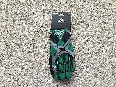 NEW Adidas POWERWEB Football Receiver Gloves adult Green Black Adult Football Gloves