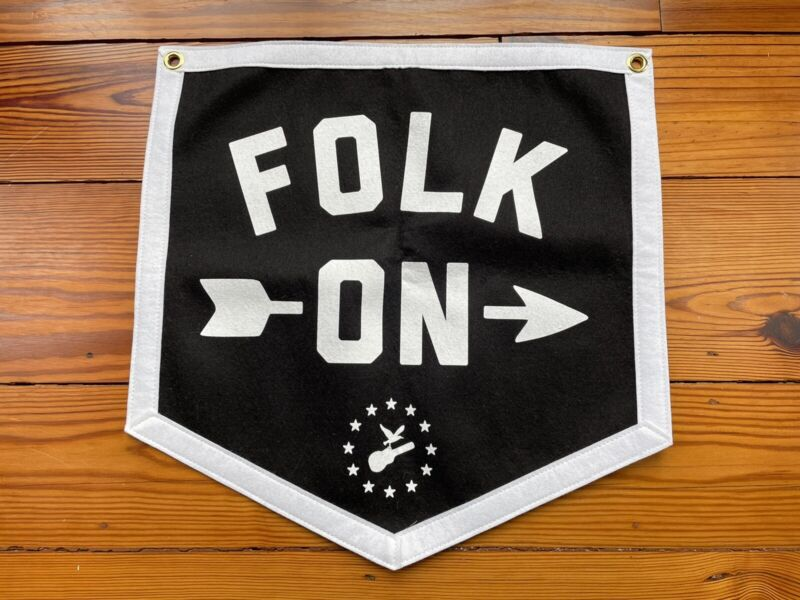 "Newport Folk Festival ""Folk On"" Felt Oxford Penant – 50% to St. Jude's"