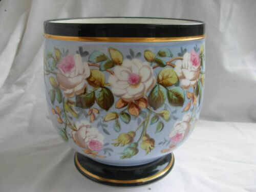 ANTIQUE FRENCH OLD PARIS PORCELAIN PLANTER,FLOWER POT,LATE 19th CENTURY.