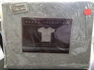 Grey jersey knit sheet set - TWIN