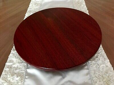 "Lazy Susan 14.5"" South American Solid Bloodwood Handcrafted Wedding, House Warm"