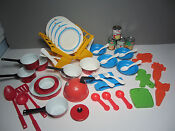 Vintage Tin Childrens Dishes