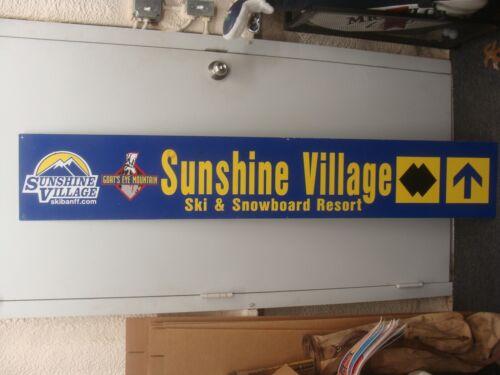 LARGE Sunshine Village - Goats Eye Mountain Snow Skiing Sign BANFF SPRINGS