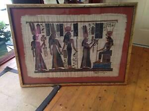 Egyptian Papyrus Framed Blackburn Whitehorse Area Preview
