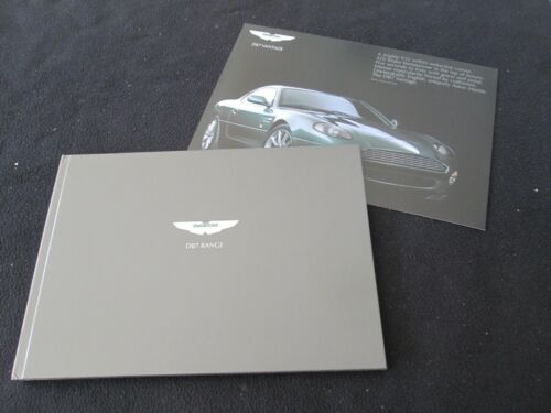 2000-2003 Aston Martin DB7 V12 Vantage Hardcover Brochure & US Catalog Set