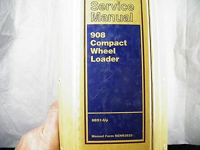 Cat Caterpillar 908 Compact Wheel Loader Service Manual 8bs1-up