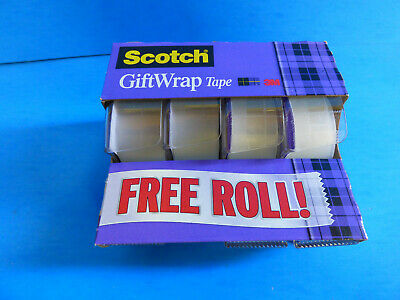 Scotch Tape 3m 4 Rolls 34 X 325 Inches Strong Secure Gift Tape Free Ship New