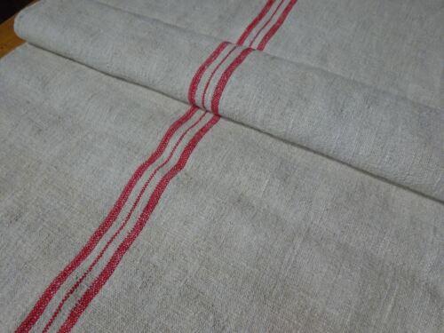 Antique European Feed Sack GRAIN SACK Red Stripes # 10439