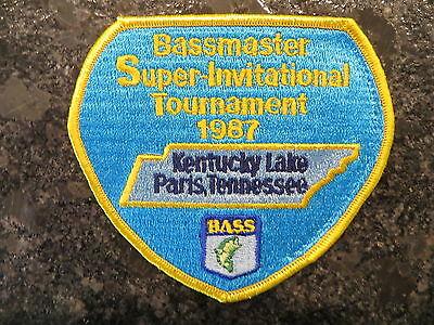 Rare Vintage Bassmaster Tournament Patch 1987 Kentucky Lake