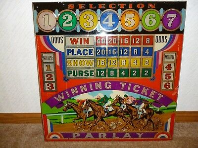 1938 J H Keeney Winning Ticket - Horse Race Pinball BACKGLASS + Others Available
