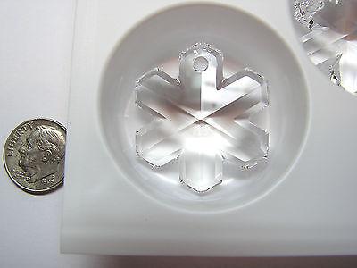 Swarovski Crystal Snowflake Pendants #6704 - 35mm - Crystal - 6 Pieces - Retired