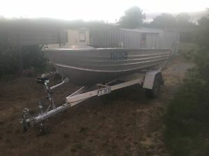 Brooker 11.6ft aluminium tinny. Rego on boat and trailer Dover Huon Valley Preview