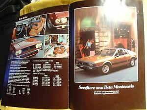 LANCIA raro - depliant scegliere una Lancia Beta - aprile 1977 - Italia - LANCIA raro - depliant scegliere una Lancia Beta - aprile 1977 - Italia