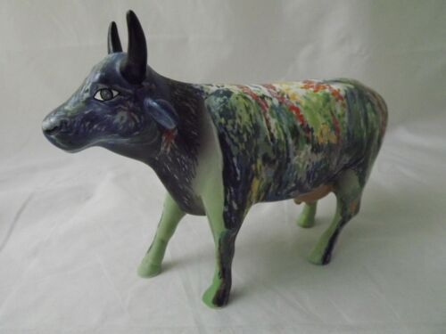2000 Holdings Cow Parade Porcelain Figurine - Great Colors