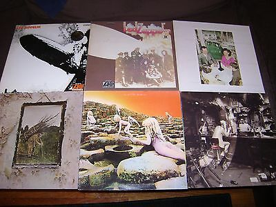 LED ZEPPELIN LP LOT-I-II-IV-HOUSES HOLY-PRESENCE-IN THROUGH OUTDR-ROCK,PSYCH LPS