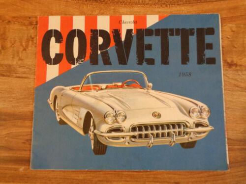VINTAGE 1958 Corvette Sales Brochure (e2)