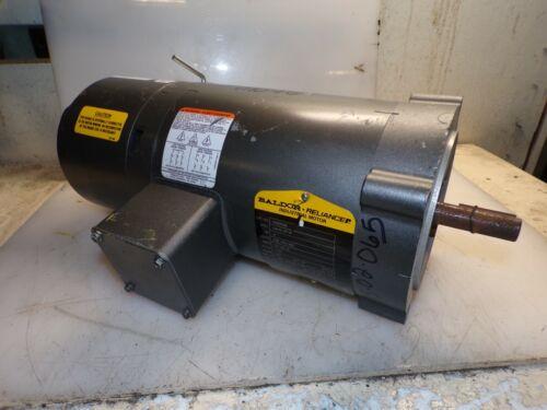 BALDOR .5 HP AC ELECTRIC BRAKE MOTOR 56C FRAME 208-230/460 VAC 1725 RPM TENV