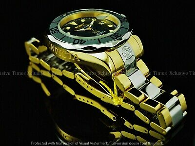 Invicta Men 300M Grand Diver Auto MOP Liquid Chrome Gold/Silver Tone SS Watch