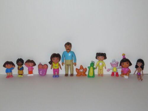 Dora The Explorer Toy Figure LOT Boots Isa Twins Dad Papi Teacher Nick Jr Mattel