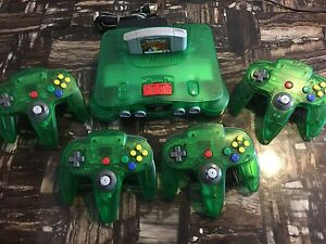 Selling off my crazy cool jungle green N64 console bundle!!!