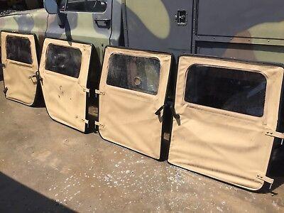 4 NICE USED-Soft Doors HMMWV M998 Tan,Handles,Hinges,window zippers