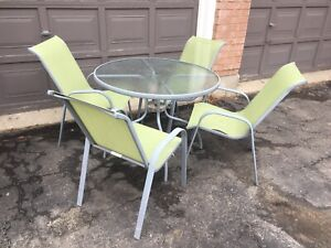Patio table & chairs $25
