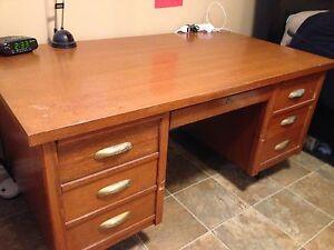 Solid Oak Desk circa 1950