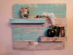 Teal and Grey Shelf